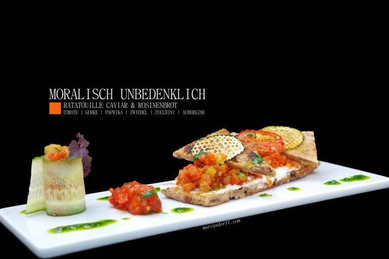 MORALISCH UNBEDENKLICH: Ratatouille Caviar & Rosinenbrot